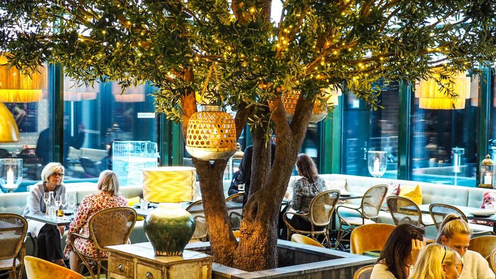 Libanonilainen ravintola Farouge talvipuutarha